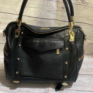 Rebecca Minkoff Black Leather Hobo Purse Handbag